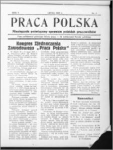 """Praca Polska : bezpłatny dodatek do """"Pielgrzyma"""", R. 1 (1937), nr 1"""