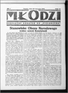 Młodzi, R. IV (1935), nr 1