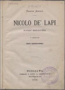 Nicolo de' Lapi : powieść historyczna