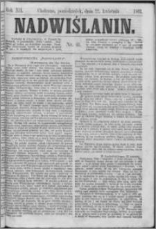 Nadwiślanin, 1861.04.22 R. 12 nr 41