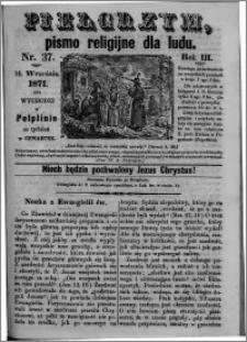 Pielgrzym, pismo religijne dla ludu 1871 nr 37