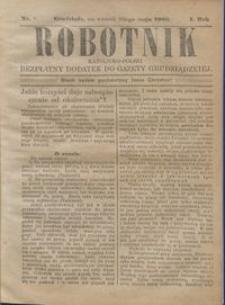 Robotnik Katolicko - Polski : bezpłatny dodatek do Gazety Grudziądzkiej 1905.05.30 R.1 nr 10