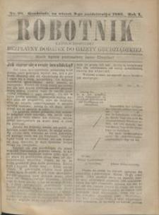 Robotnik Katolicko - Polski : bezpłatny dodatek do Gazety Grudziądzkiej 1905.10.03 R.1 nr 28