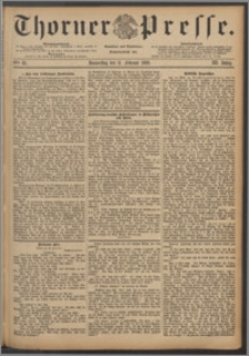 Thorner Presse 1886, Jg. IV, Nro. 35 + Beilagenwerbung