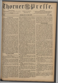 Thorner Presse 1886, Jg. IV, Nro. 92 + Beilagenwerbung