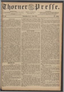Thorner Presse 1886, Jg. IV, Nro. 138 + Beilagenwerbung