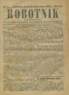 Robotnik Katolicko - Polski : bezpłatny dodatek do Gazety Grudziądzkiej 1906.02.20 R.2 nr 8