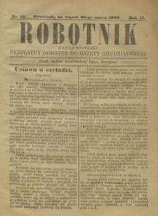 Robotnik Katolicko - Polski : bezpłatny dodatek do Gazety Grudziądzkiej 1906.03.20 R.2 nr 12