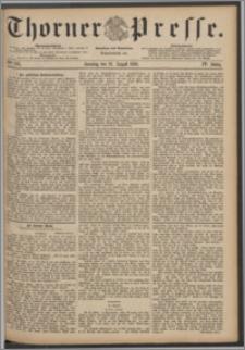 Thorner Presse 1886, Jg. IV, Nro. 195 + Beilage