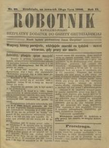 Robotnik Katolicko - Polski : bezpłatny dodatek do Gazety Grudziądzkiej 1906.07.12 R.2 nr 28