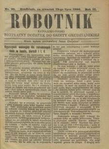 Robotnik Katolicko - Polski : bezpłatny dodatek do Gazety Grudziądzkiej 1906.07.19 R.2 nr 29
