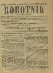 Robotnik Katolicko - Polski : bezpłatny dodatek do Gazety Grudziądzkiej 1906.08.28 R.2 nr 35