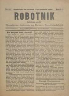 Robotnik Katolicko - Polski : bezpłatny dodatek do Gazety Grudziądzkiej 1908.12.17 R.4 nr 51