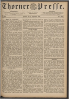 Thorner Presse 1886, Jg. IV, Nro. 213 + Beilage