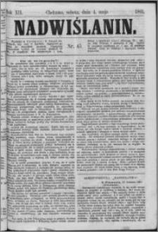 Nadwiślanin, 1861.05.04 R. 12 nr 45