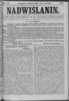 Nadwiślanin, 1861.09.22 R. 12 nr 92