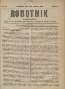 Robotnik Katolicko - Polski : bezpłatny dodatek poświęcony sprawom robotniczym 1915.09.02 R.12 nr 23