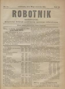 Robotnik Katolicko - Polski : bezpłatny dodatek poświęcony sprawom robotniczym 1915.09.30 R.12 nr 27