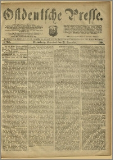 Ostdeutsche Presse. J. 8, 1884, nr 275
