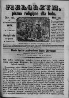 Pielgrzym, pismo religijne dla ludu 1871 nr 40