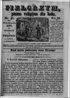 Pielgrzym, pismo religijne dla ludu 1871 nr 48