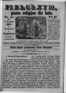 Pielgrzym, pismo religijne dla ludu 1871 nr 49
