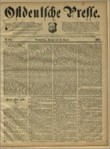 Ostdeutsche Presse. J. 13, 1889, nr 190