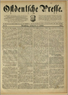 Ostdeutsche Presse. J. 15, 1891, nr 43