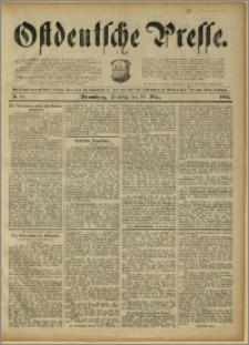 Ostdeutsche Presse. J. 15, 1891, nr 58