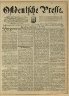 Ostdeutsche Presse. J. 15, 1891, nr 72