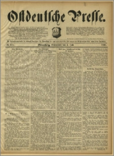 Ostdeutsche Presse. J. 15, 1891, nr 153