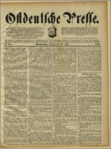 Ostdeutsche Presse. J. 15, 1891, nr 160