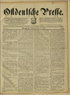 Ostdeutsche Presse. J. 15, 1891, nr 169