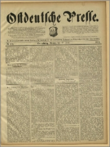Ostdeutsche Presse. J. 15, 1891, nr 172
