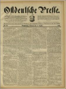 Ostdeutsche Presse. J. 15, 1891, nr 180
