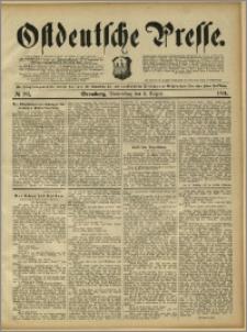Ostdeutsche Presse. J. 15, 1891, nr 181