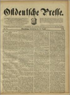 Ostdeutsche Presse. J. 15, 1891, nr 187