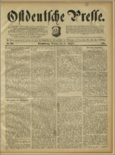 Ostdeutsche Presse. J. 15, 1891, nr 190