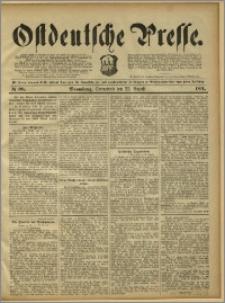 Ostdeutsche Presse. J. 15, 1891, nr 195