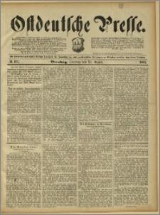 Ostdeutsche Presse. J. 15, 1891, nr 197