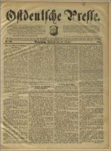 Ostdeutsche Presse. J. 15, 1891, nr 240