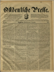 Ostdeutsche Presse. J. 15, 1891, nr 281