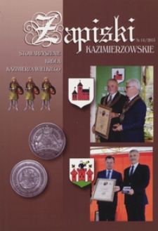 Zapiski Kazimierzowskie 2015 nr 14