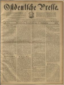 Ostdeutsche Presse. J. 23, 1899, nr 224