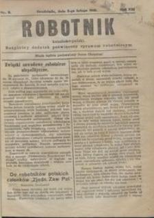 Robotnik Katolicko - Polski : bezpłatny dodatek poświęcony sprawom robotniczym 1916.02.03 R. 13 nr 3