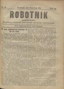 Robotnik Katolicko - Polski : bezpłatny dodatek poświęcony sprawom robotniczym 1916.07.14 R. 13 nr 19