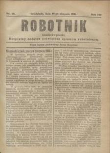 Robotnik Katolicko - Polski : bezpłatny dodatek poświęcony sprawom robotniczym 1916.08.25 R. 13 nr 22