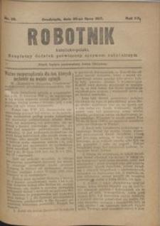 Robotnik Katolicko - Polski : bezpłatny dodatek poświęcony sprawom robotniczym 1917.07.26 R. 14 nr 29