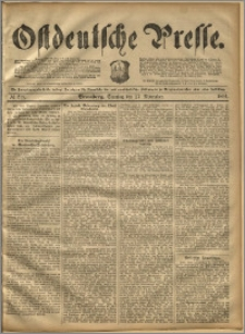 Ostdeutsche Presse. J. 16, 1892, nr 278