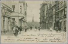 Toruń - ulica Chełmińska - Gruss aus Thor. Kulmerstrasse mit Kriegerdenkmal